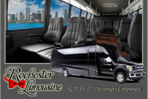 27 Passenger Corporate Limo Bus