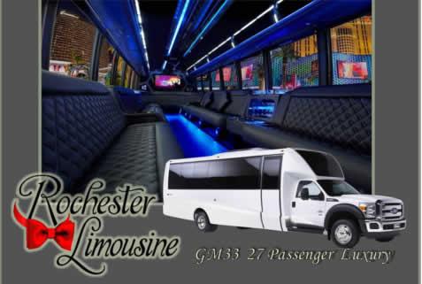 27 Passenger Luxury Limo Bus
