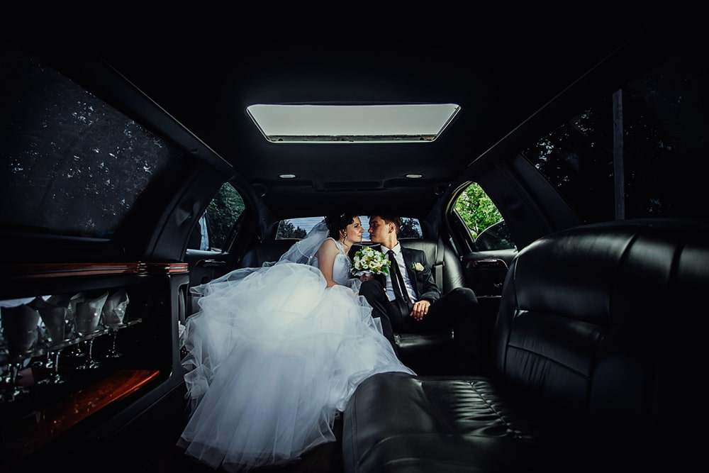 Wedding Party Bus or Wedding Limousine